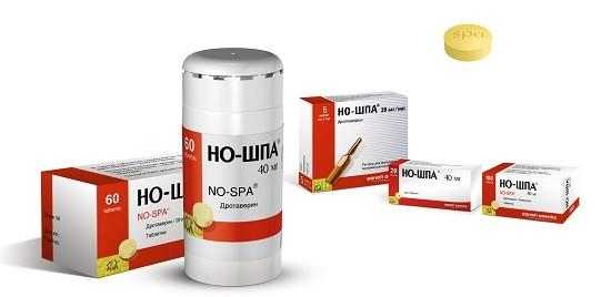 Но-шпа используется для снижения температуры при фарингите