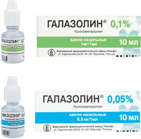 содержание действующего вещества в галазолине назальном