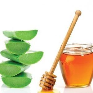 Алоэ и мед для лечения тонзиллита